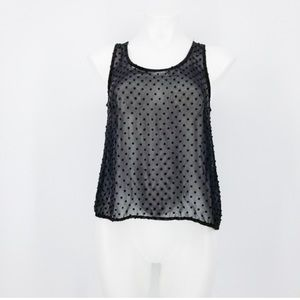 Lush Sheer Swiss Dot Tank Top Size S